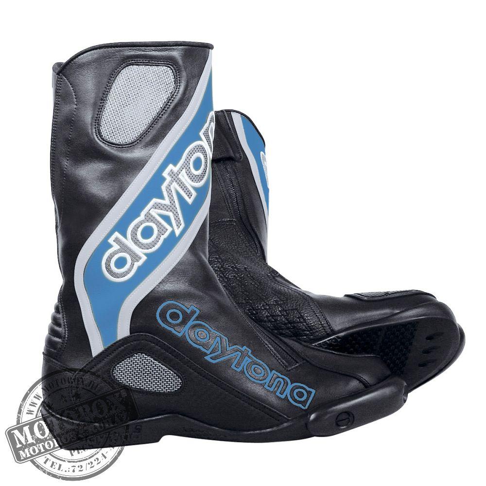 Daytona csizmák - Motoros csizmák - EVO Sports - fekete   kék   ezüst 16d34932db