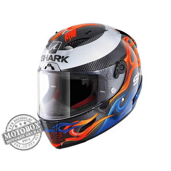 Shark bukósisak - Race-R Pro Carbon - Replica Lorenzo 2019 - 8668-DBR Carbon Blue Red