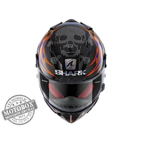 Shark bukósisak - Race-R Pro - Replica Lorenzo Catalunya GP 2019 - 8641-KRB fekete-piros-kék