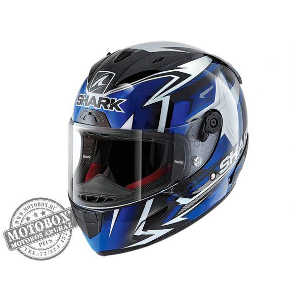 Shark bukósisak - Race-R Pro - Replica Oliveira 2019 - 8625-KBW fekete-kék-fehér