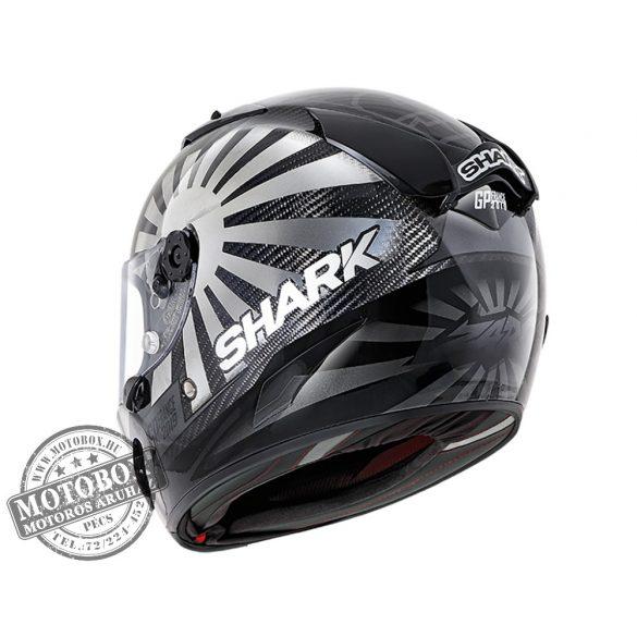 Shark bukósisak - Race-R Pro Carbon - Replica Zarco GP France 2019 - 8660-DUA Chrome Anthracite