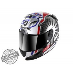 Shark bukósisak - Race-R Pro Carbon - Replica Zarco GP France 2019 - 8660-DUR Chrom Red