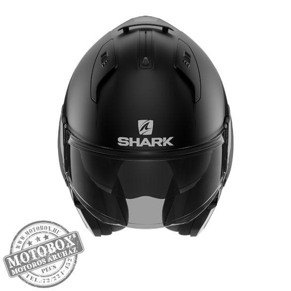 SHARK bukósisak - EVO ES - Blank - 9802-KMA - matt fekete