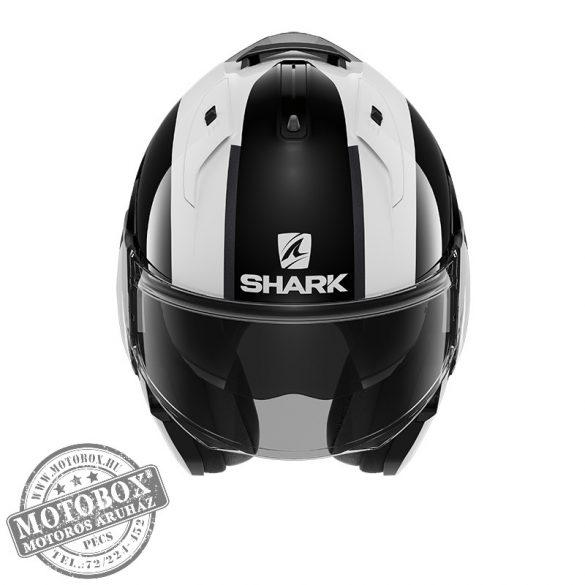 SHARK bukósisak - EVO ES - Endless - 9806-WKR fekete-fehér