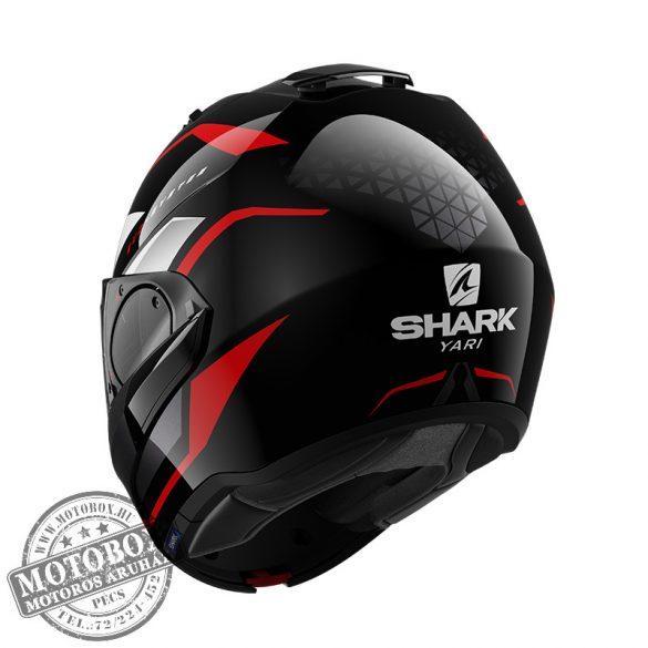 SHARK bukósisak - EVO ES - Yari - 9803-KRW matt fekete-fehér-piros