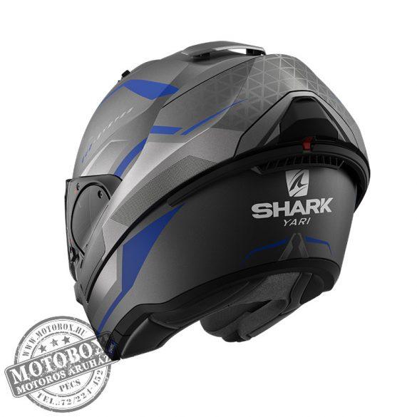SHARK bukósisak - EVO ES - Yari mat - 9804-ABS matt szürke-kék