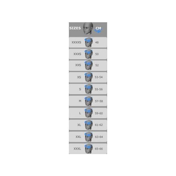 Bukósisak mérettáblázat