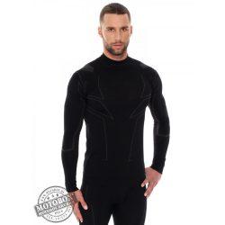 BRUBECK® COOLER nyári férfi hosszú ujjú motoros aláöltöző felső fekete