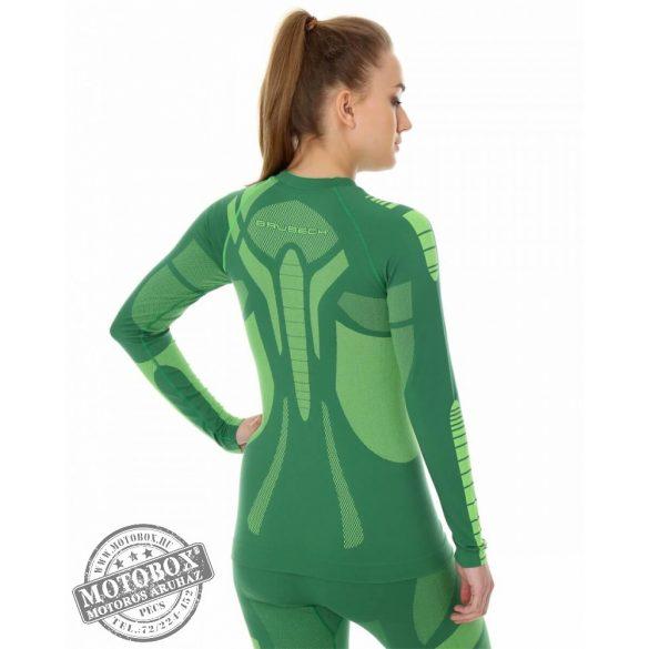 BRUBECK® DRY Hosszú ujjú női felső zöld/lime