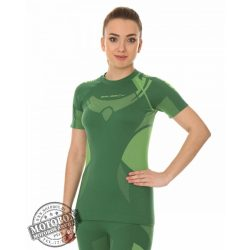 BRUBECK® DRY Rövid ujjú női felső zöld/lime
