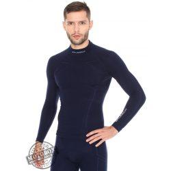 BRUBECK® EXTREME WOOL Merinó gyapjú férfi aláöltöző felső sötétkék