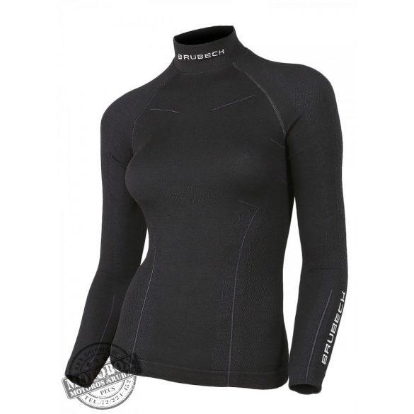 BRUBECK® EXTREME WOOL Merinó gyapjú női aláöltöző felső fekete