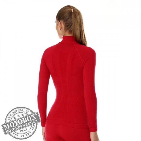 BRUBECK® EXTREME WOOL Merinó gyapjú női aláöltöző felső málna