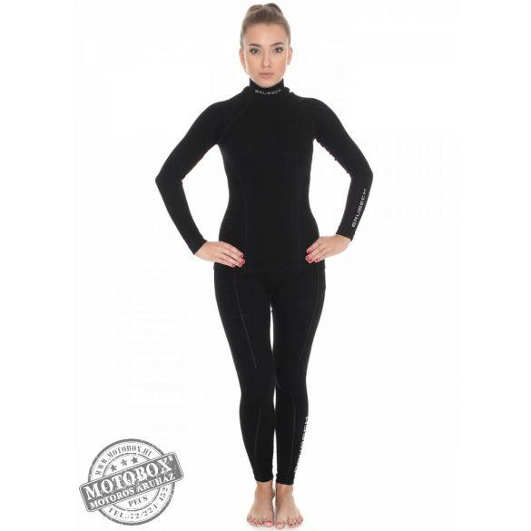BRUBECK® EXTREME WOOL Merinó gyapjú női aláöltöző alsó fekete