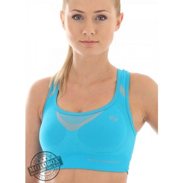 BRUBECK® Sportmelltartó/Crop Top kék
