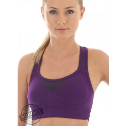 BRUBECK® Sportmelltartó/Crop Top lila