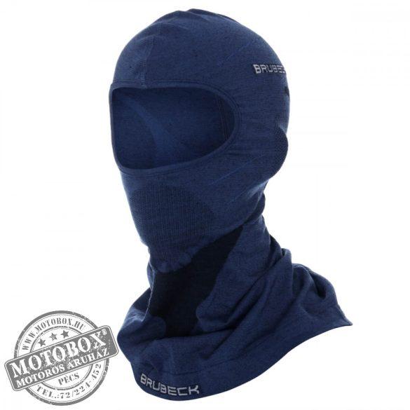 BRUBECK® Uniszex Merino gyapjú thermo maszk sötétkék
