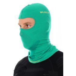 BRUBECK® Uniszex Merino gyapjú thermo maszk zöld