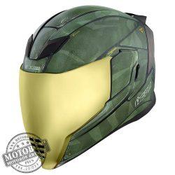 ICON AirFlite bukósisak Battlescar2 Green matt zöld
