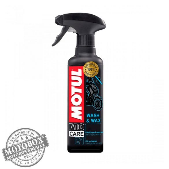 MOTUL MC CARE™ E1 WASH & WAX tisztító ápoló spray 400ml
