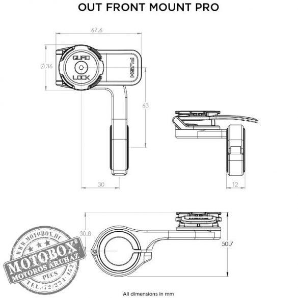QUAD LOCK® Kerékpározás - telefontartó kormányrúdra PRO