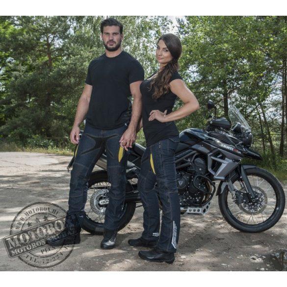 TriloBite Probut X-Factor 4 évszakos motoros farmernadrág sötétkék