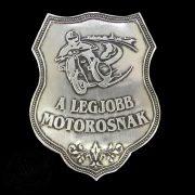 "Motoros 3D aluminium matrica ""A LEGJOBB MOTOROSNAK"""