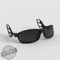 FLYWEAR Alpha Fekete napszemüveg füstszürke lencsével