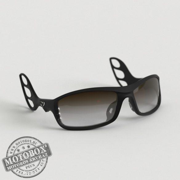 FLYWEAR Alpha Fekete napszemüveg Transitions® XTRActive® fényre sötétedő barna lencsével