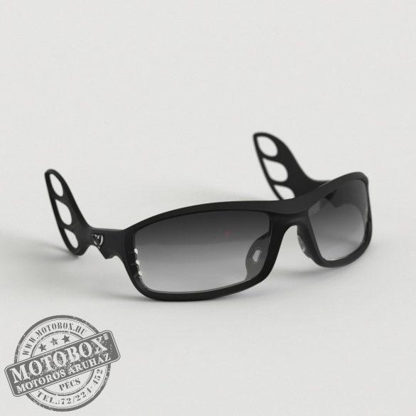 FLYWEAR Alpha Fekete napszemüveg Transitions® XTRActive® fényre sötétedő szürke lencsével