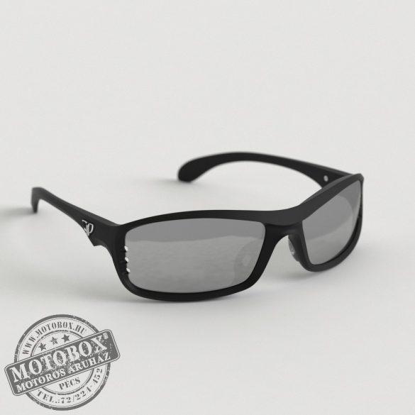 FLYWEAR Alpha Fekete napszemüveg tükrös ezüst lencsével