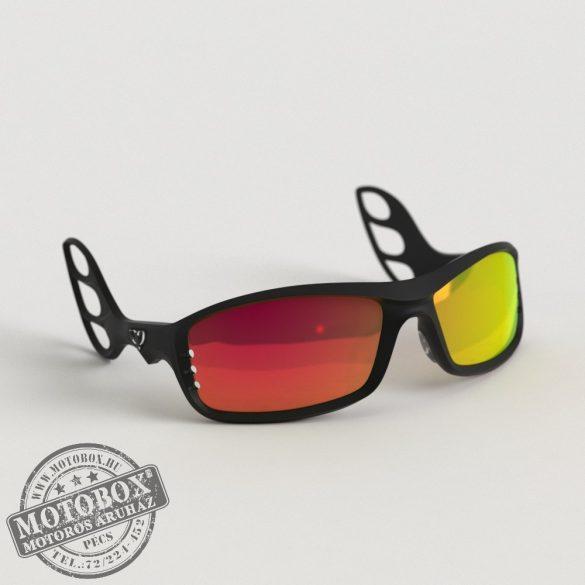 FLYWEAR Alpha Fekete napszemüveg tükrös piros lencsével