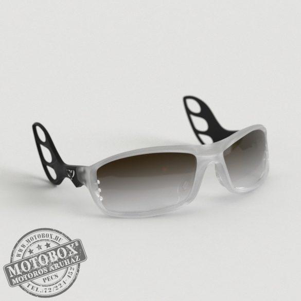 FLYWEAR Alpha Jégkristály/Fekete napszemüveg Transitions® XTRActive® fényre sötétedő barna lencsével