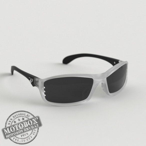 FLYWEAR Alpha Jégkristály/Fekete napszemüveg füstszürke lencsével