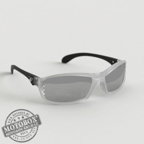 FLYWEAR Alpha Jégkristály/Fekete napszemüveg tükrös ezüst lencsével