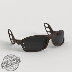 FLYWEAR Alpha Kávébarna napszemüveg füstszürke lencsével