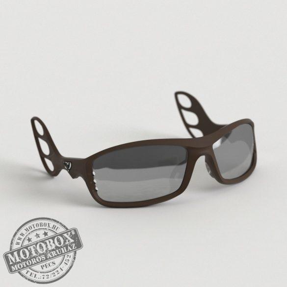 FLYWEAR Alpha Kávébarna napszemüveg tükrös ezüst lencsével
