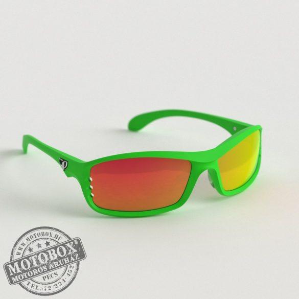 FLYWEAR Alpha Zöld napszemüveg tükrös piros lencsével