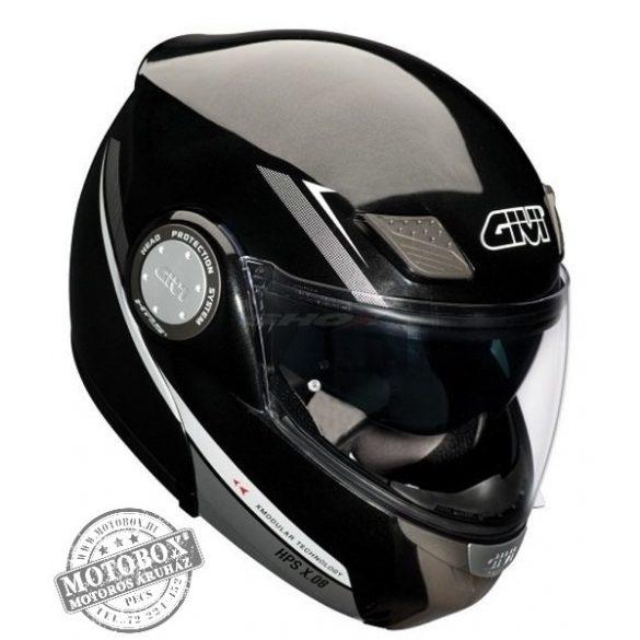 GIVI HPS X.08 X-Modular felnyitható bukósisak beépített napszemüveggel fekete