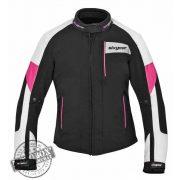 SIXGEAR Joyce női motoros textildzseki fekete/fehér/pink