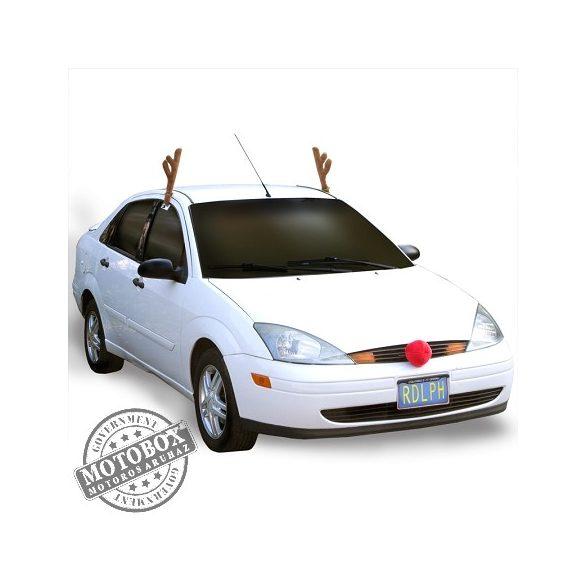 """Rudolf """"jelmez"""" az autódra ;)"""